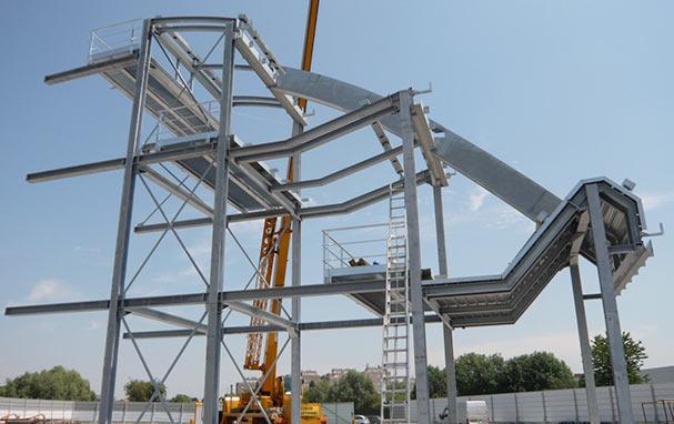 Un prototype à l'échelle 1 : une partie de la Canopée Forum des Halles, réalisée loin des regards pour mien se concentrer sur la mise au point du projet